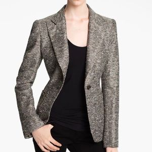 McGinn Clara Metallic Textured Button Blazer 6